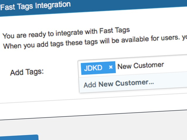 Quick Add Fast Tags