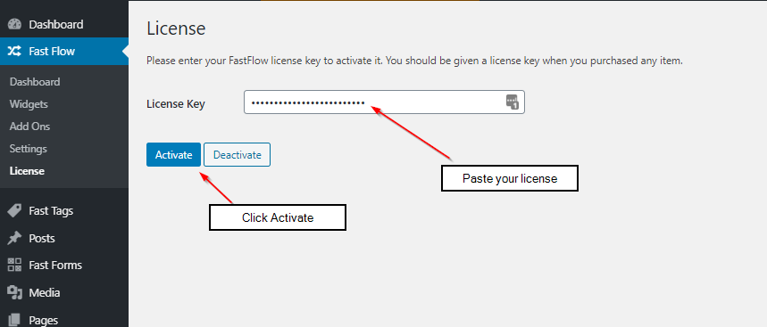 activating license fastflow