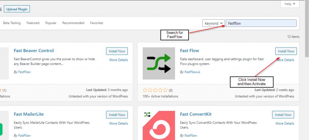 installing fastflow plugin