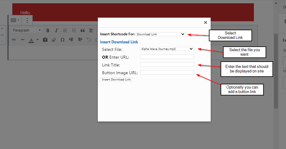 adding fastmember files to page