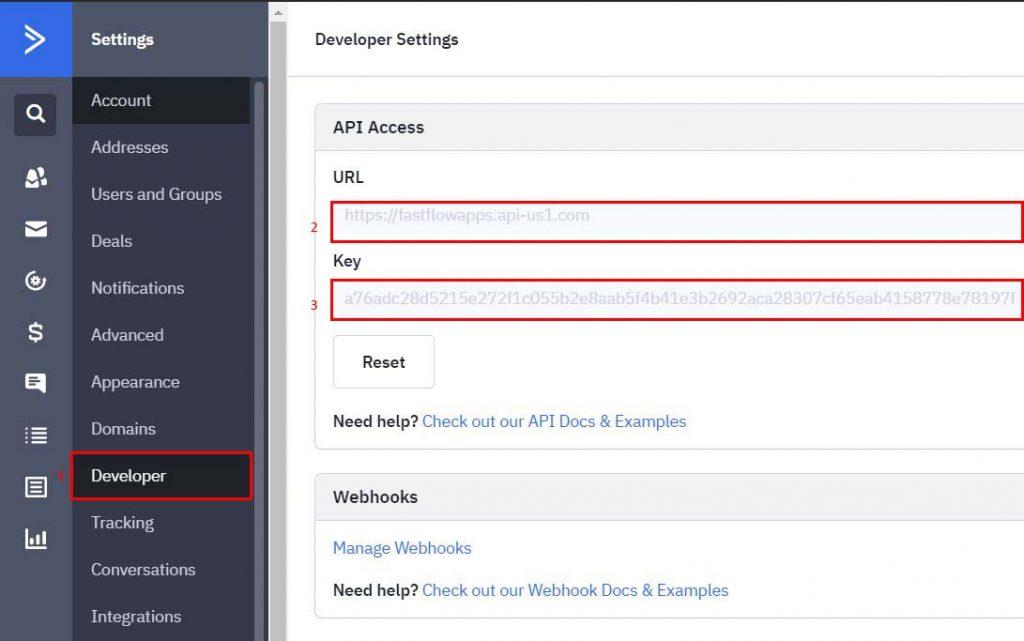 2 Fast Flow Active Campaign API URL KEY