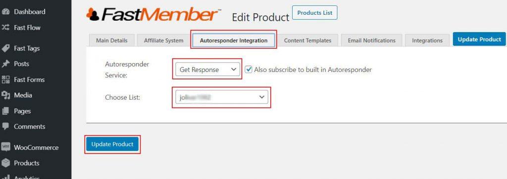 Autoresponder Service Integration