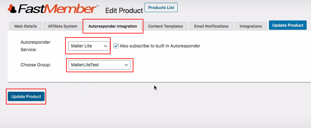 4 MailerLite Autoresponder Integration group