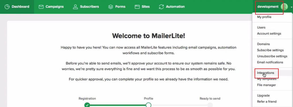 MailerLite account1
